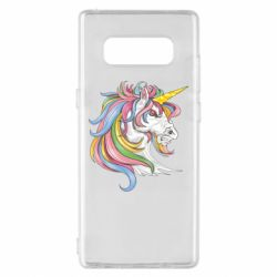 Чохол для Samsung Note 8 Кінь з кольоровою гривою