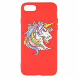 Чохол для iPhone 8 Кінь з кольоровою гривою