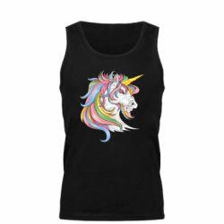 Майка чоловіча Кінь з кольоровою гривою