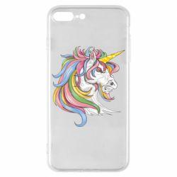 Чохол для iPhone 8 Plus Кінь з кольоровою гривою