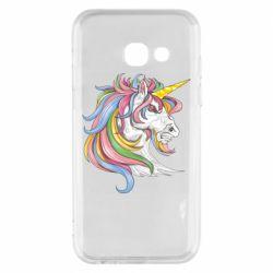 Чохол для Samsung A3 2017 Кінь з кольоровою гривою