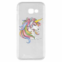 Чохол для Samsung A5 2017 Кінь з кольоровою гривою