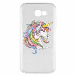 Чохол для Samsung A7 2017 Кінь з кольоровою гривою