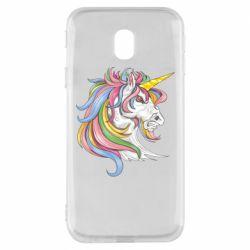 Чохол для Samsung J3 2017 Кінь з кольоровою гривою