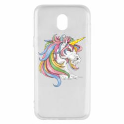 Чохол для Samsung J5 2017 Кінь з кольоровою гривою