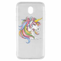 Чохол для Samsung J7 2017 Кінь з кольоровою гривою