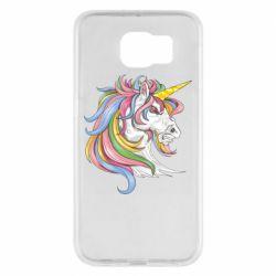 Чохол для Samsung S6 Кінь з кольоровою гривою