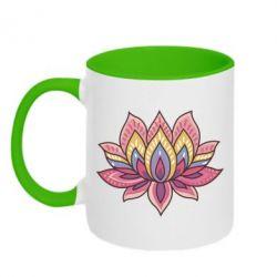 Кружка двухцветная Lotus - FatLine