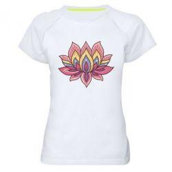 Женская спортивная футболка Lotus - FatLine