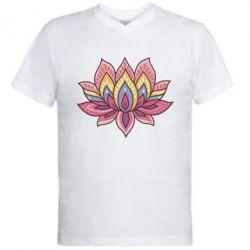 Мужская футболка  с V-образным вырезом Lotus