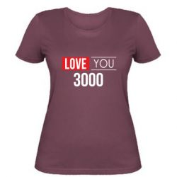 Женская футболка Love 300