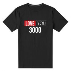 Мужская стрейчевая футболка Love 300