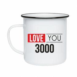 Кружка эмалированная Love 300