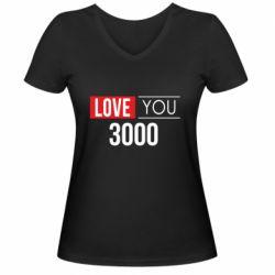 Женская футболка с V-образным вырезом Love 300