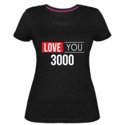 Женская стрейчевая футболка Love 300