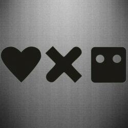 Наклейка Love and robots