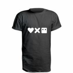 Подовжена футболка Love and robots