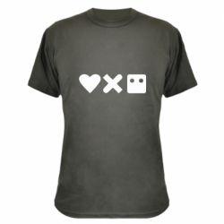 Камуфляжна футболка Love and robots