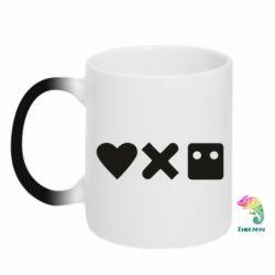 Кружка-хамелеон Love and robots