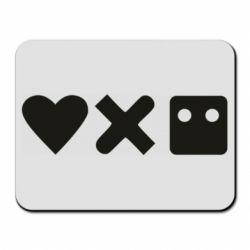 Килимок для миші Love and robots
