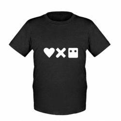 Дитяча футболка Love and robots