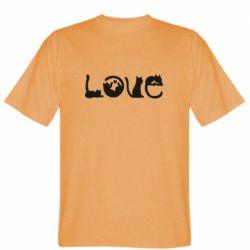 Мужская футболка Love consists of cats