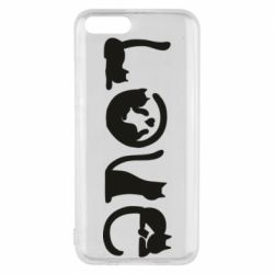 Чехол для Xiaomi Mi6 Love consists of cats