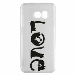 Чехол для Samsung S6 EDGE Love consists of cats