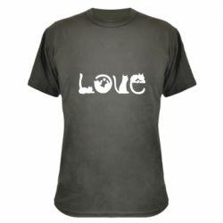 Камуфляжная футболка Love consists of cats