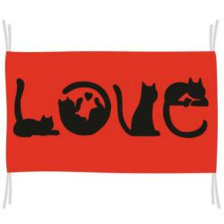 Флаг Love consists of cats