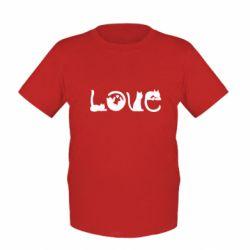Детская футболка Love consists of cats