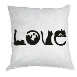 Подушка Love consists of cats