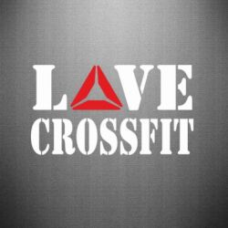 Наклейка Love CrossFit - FatLine