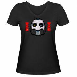 Женская футболка с V-образным вырезом Love death and robots