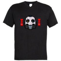 Мужская футболка  с V-образным вырезом Love death and robots