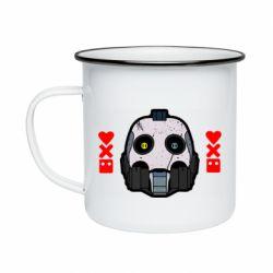 Кружка эмалированная Love death and robots