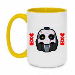 Кружка двухцветная 420ml Love death and robots