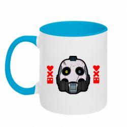 Кружка двухцветная 320ml Love death and robots