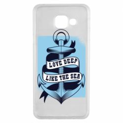 Чехол для Samsung A3 2016 Love deep like the sea