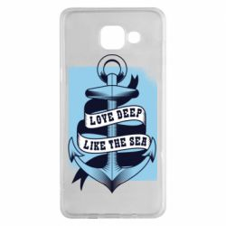 Чехол для Samsung A5 2016 Love deep like the sea