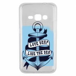 Чохол для Samsung J1 2016 Love deep like the sea