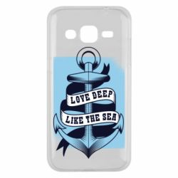 Чехол для Samsung J2 2015 Love deep like the sea