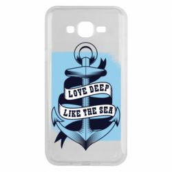 Чехол для Samsung J7 2015 Love deep like the sea