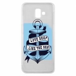 Чехол для Samsung J6 Plus 2018 Love deep like the sea