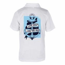 Дитяча футболка поло Love deep like the sea