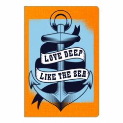 Блокнот А5 Love deep like the sea
