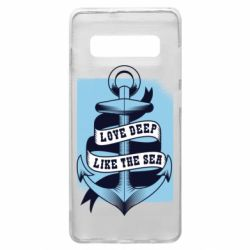 Чехол для Samsung S10+ Love deep like the sea