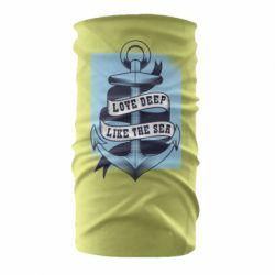Бандана-труба Love deep like the sea