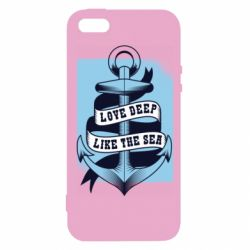 Чехол для iPhone5/5S/SE Love deep like the sea