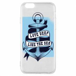 Чехол для iPhone 6/6S Love deep like the sea